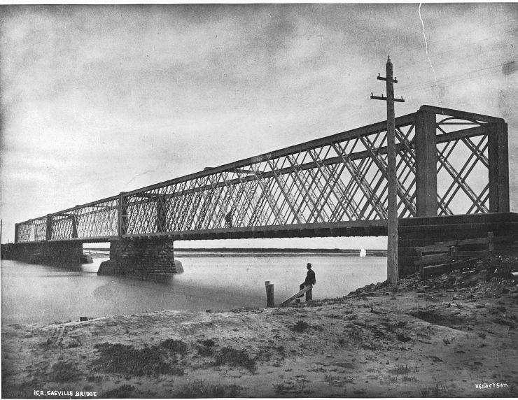 Canada Plaza - Giới thiệu tỉnh bang New Brunswick - Đường sắt liên lục địa - cầu Sackville 1875