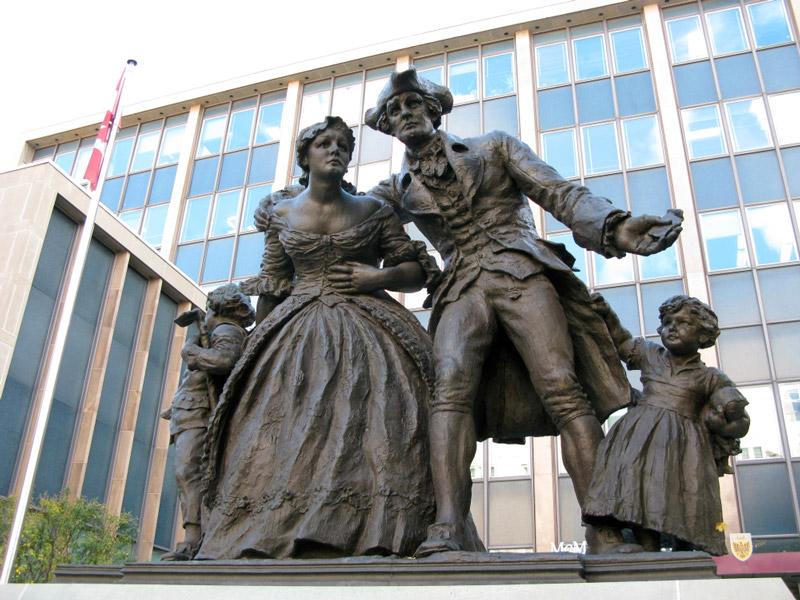 United Empire Loyalist Statue in Hamilton Ontario