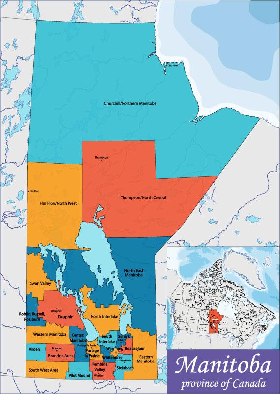 Bản đồ Manitoba
