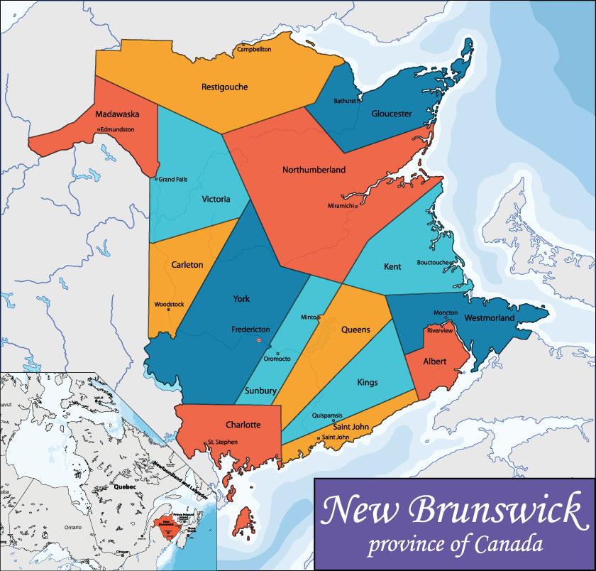 Bản đồ New Brunswick