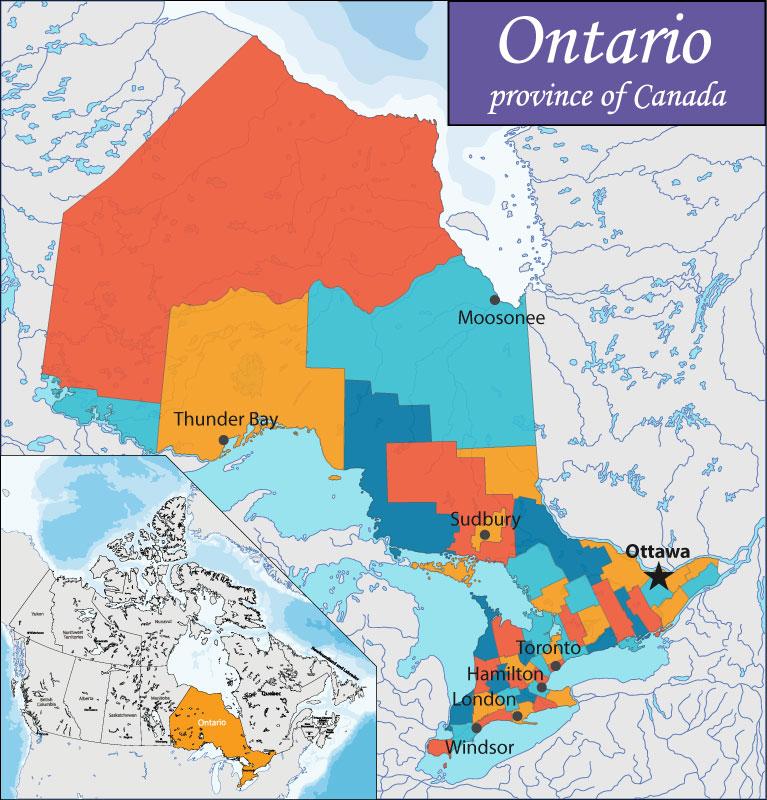 Bản đồ Ontario