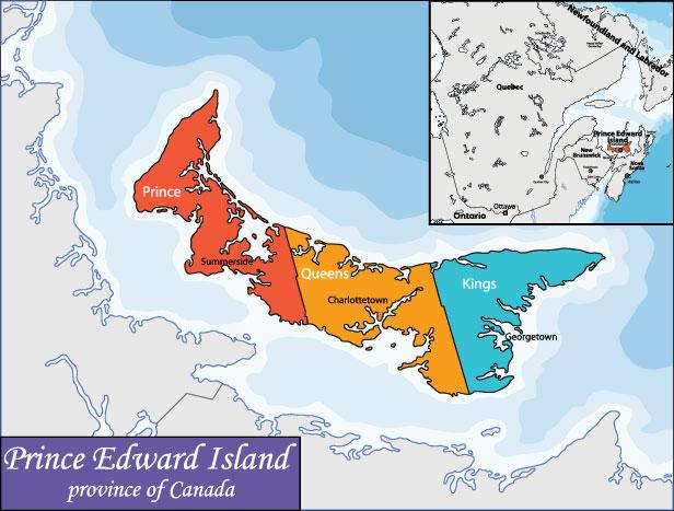 Bản đồ Prince Edward Island