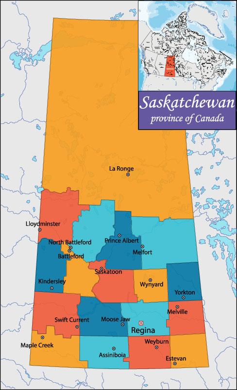 Bản đồ Saskatchewan