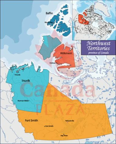 Bản đồ Northwest Territories