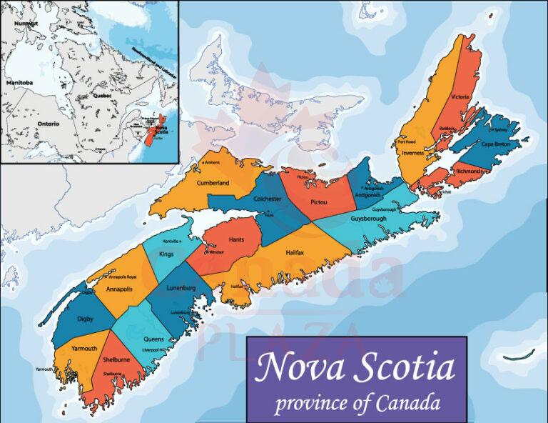 Bản đồ Nova Scotia 1