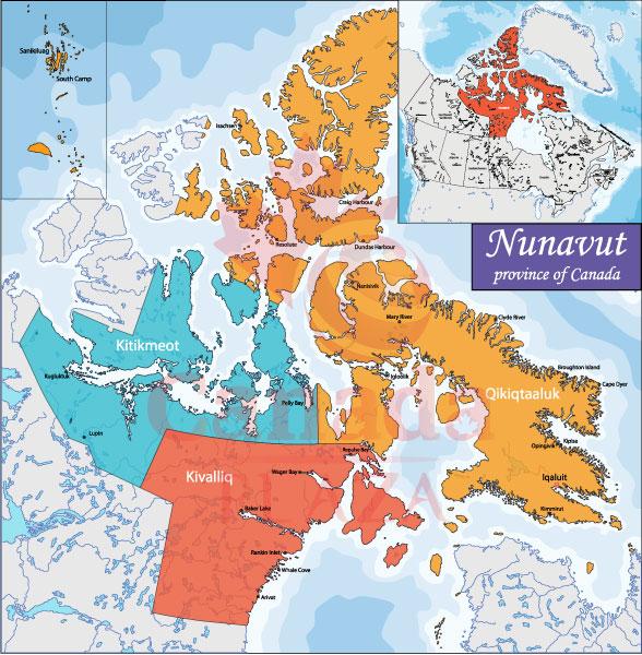Bản đồ Nunavut