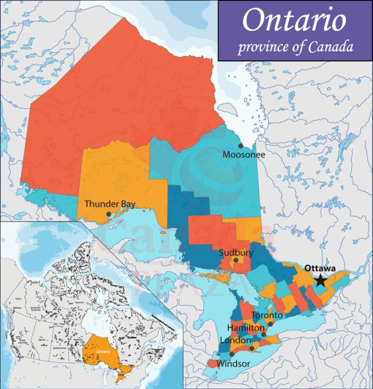 Bản đồ Ontario 1