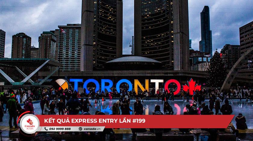 Kết quả Express Entry lần #199