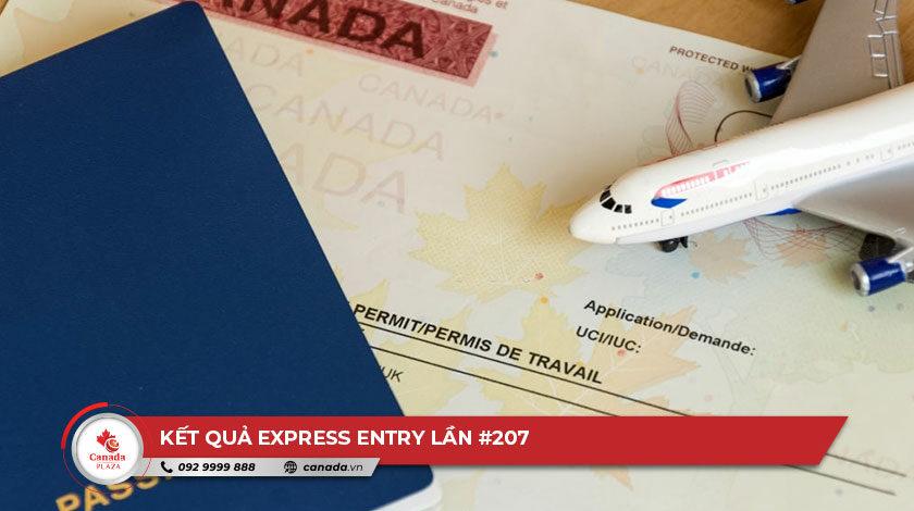 Kết quả Express Entry lần 207